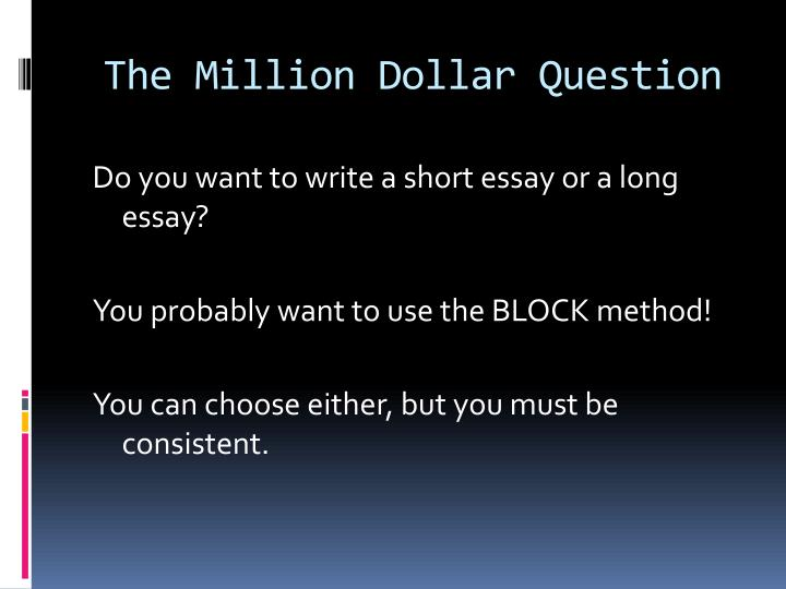 million dollar baby essay questions The title is: euthanasia and million dollar babyi have italicized million dollar baby throughout the essay as needed for 2009 mla, but i cannot find instruction.
