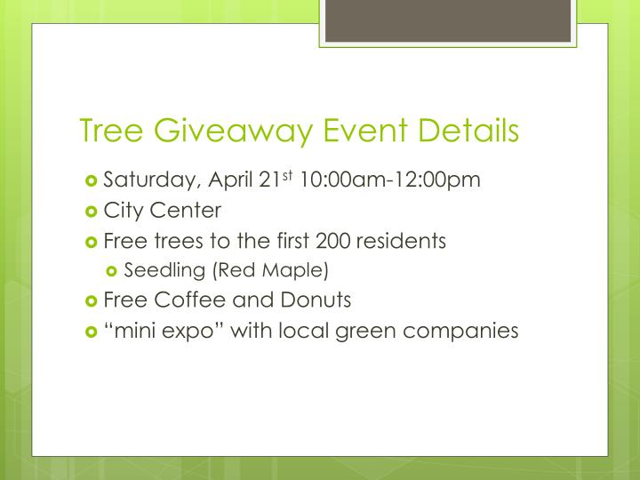 Tree Giveaway Event Details
