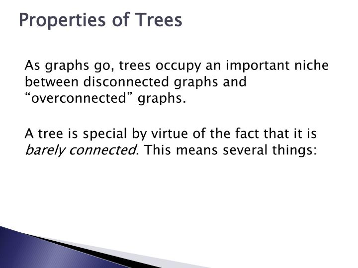 Properties of Trees