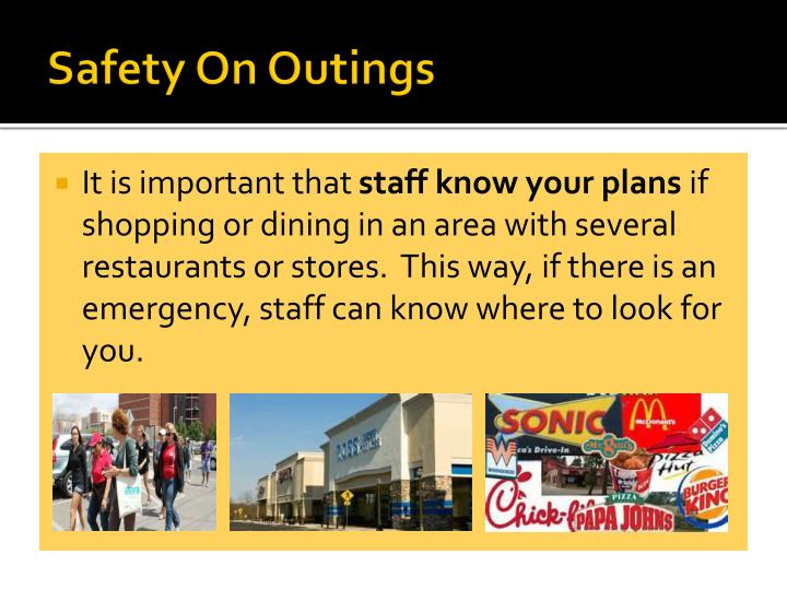 Safety On Outings