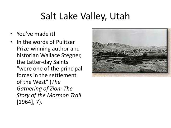 Salt Lake Valley, Utah