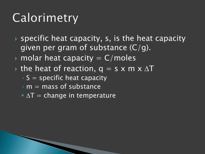 Calorimetry