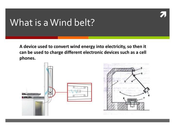 What is a Wind belt?