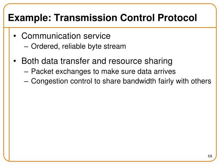 Example: Transmission Control Protocol