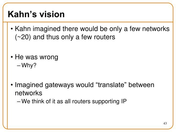 Kahn's vision