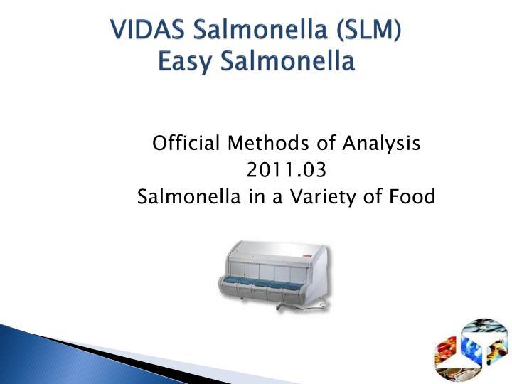 VIDAS Salmonella (SLM)