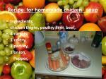 recipe for homemade chicken soup