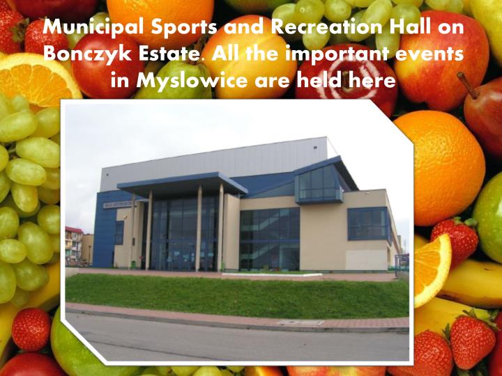 Municipal Sports and Recreation Hall on Bo