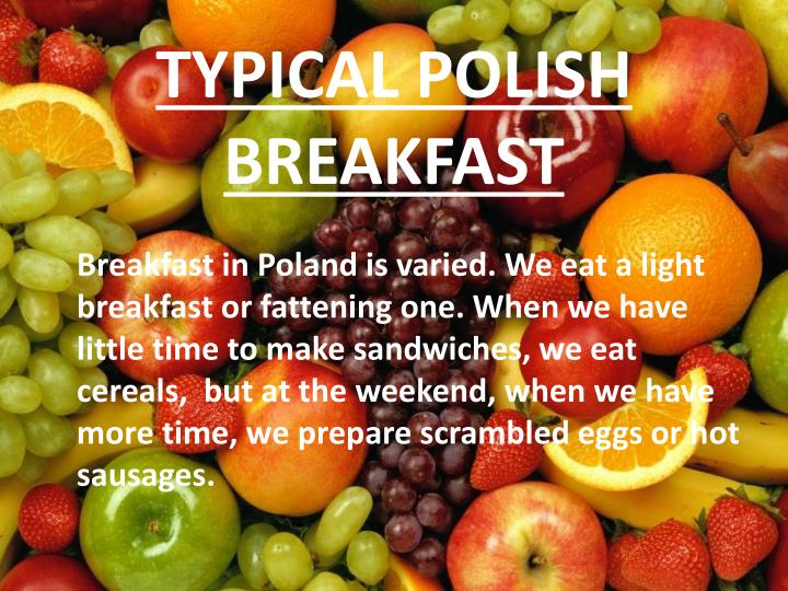 TYPICAL POLISH BREAKFAST