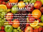 typical polish breakfast