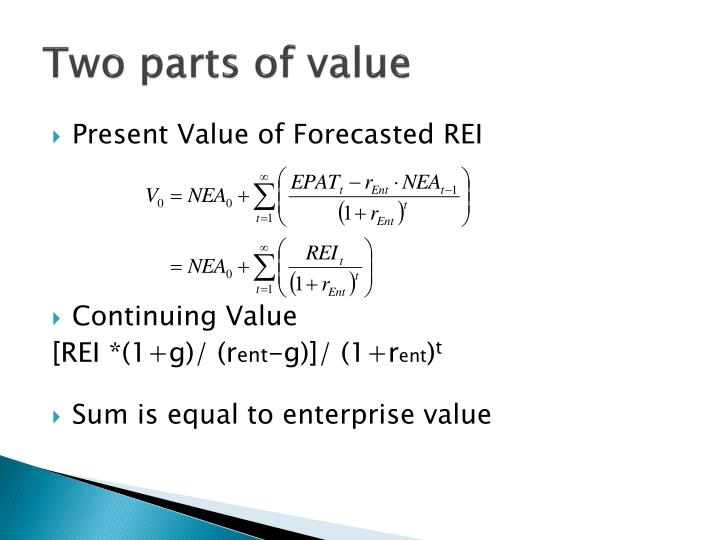 Two parts of value