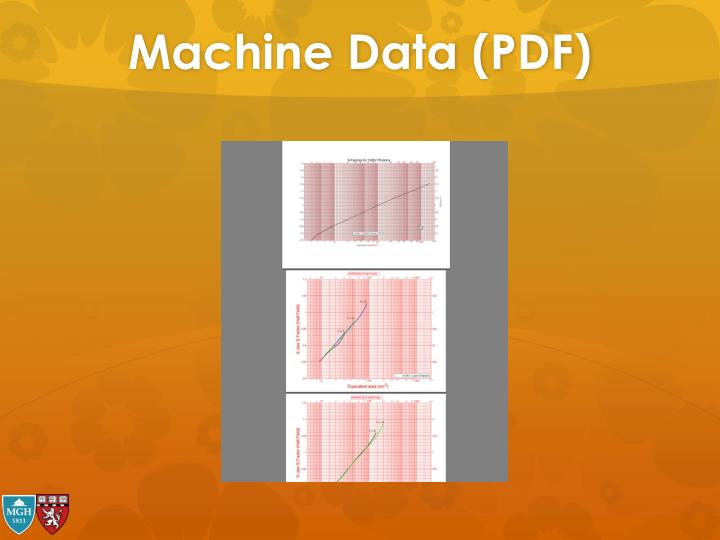 Machine Data (PDF)