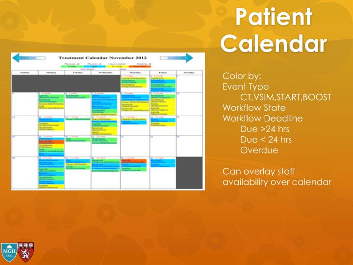 Patient Calendar