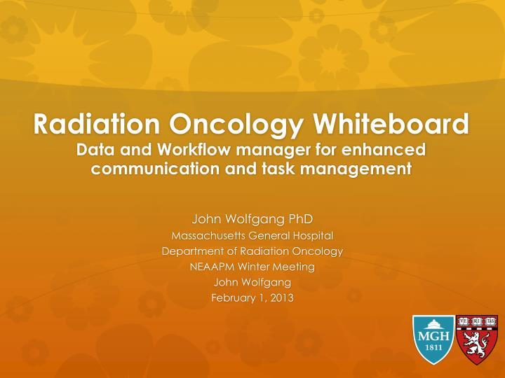 Radiation Oncology Whiteboard