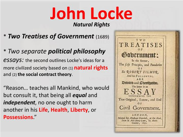 essays on john locke second treatise