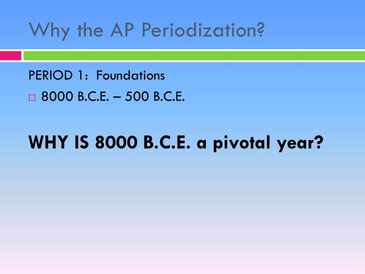 Why the AP