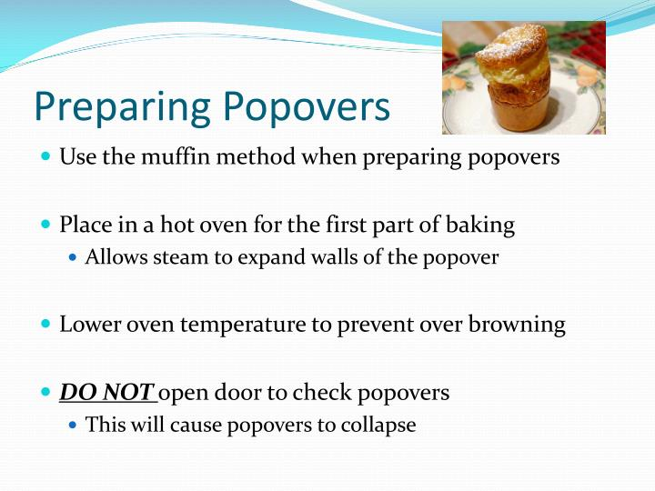 Preparing Popovers