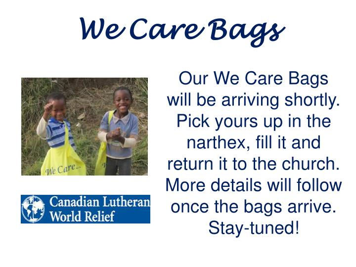 We Care Bags