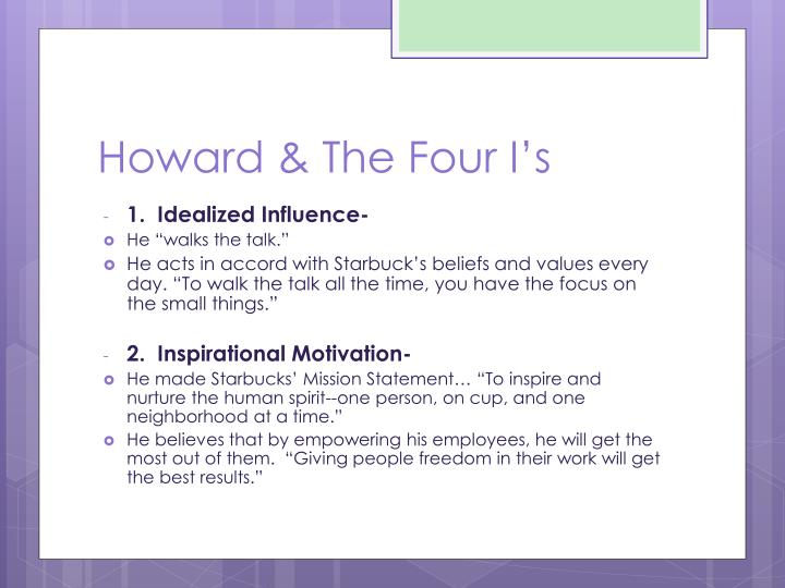 Howard the four i s