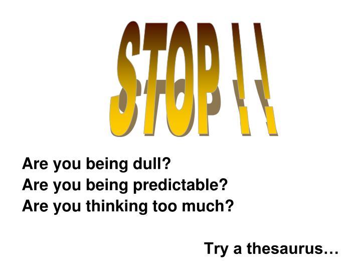 STOP ! !