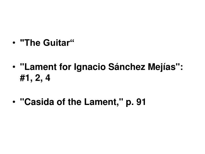 """""""The Guitar"""""""