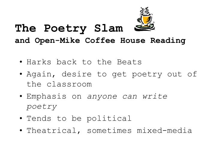 The Poetry Slam
