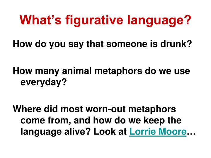 What's figurative language?