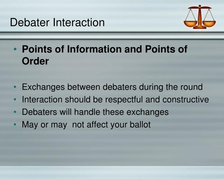 Debater Interaction