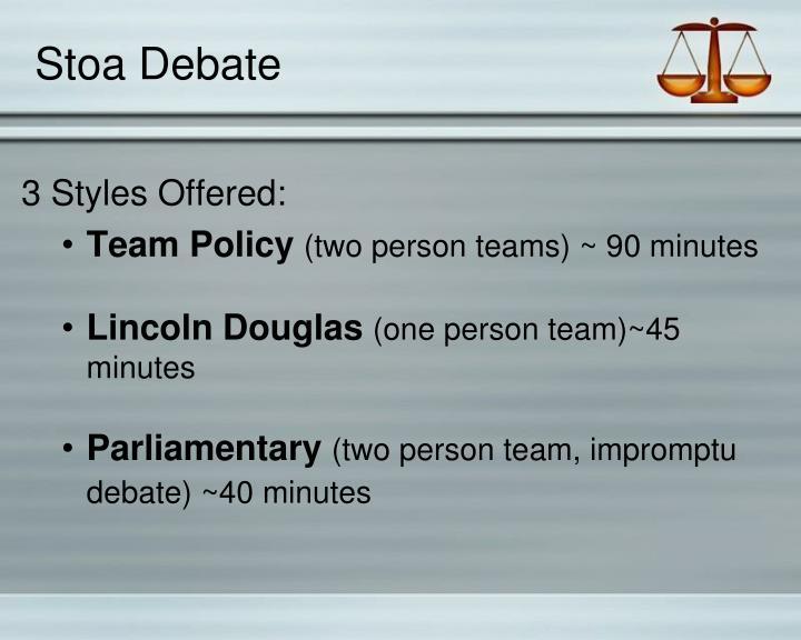 Stoa Debate