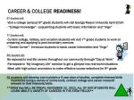 career college readiness