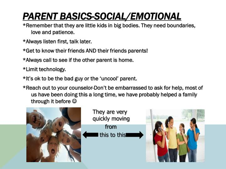 Parent Basics-Social/Emotional