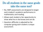 do all students in the same grade take the same test