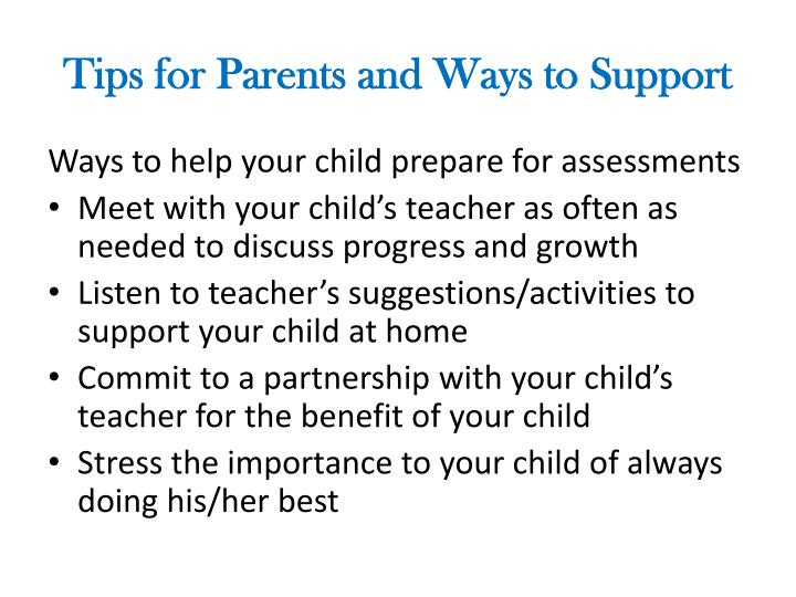 Tips for Parents and Ways to Support