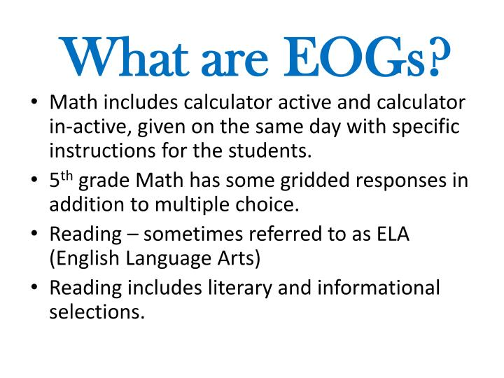 What are EOGs?