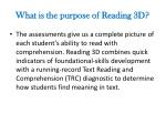 what is the purpose of reading 3d