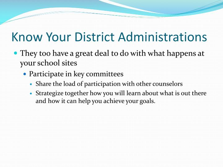 Know Your District Administrations