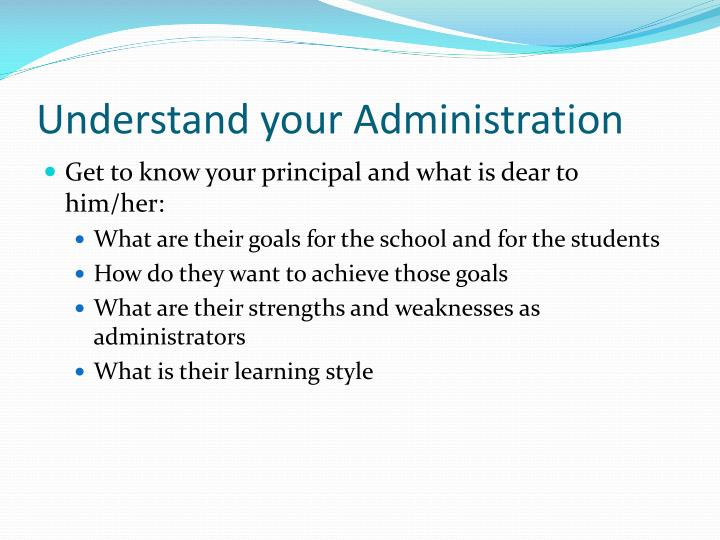 Understand your Administration
