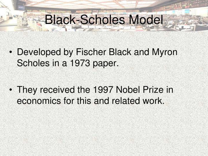 black scholes thesis