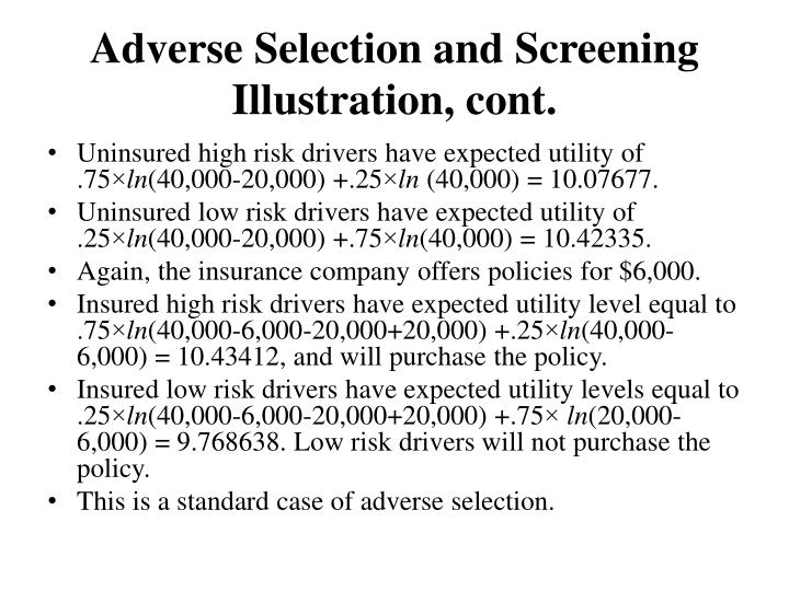 Adverse Selection and