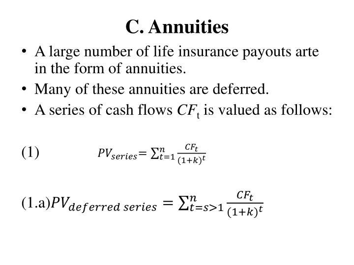 C. Annuities