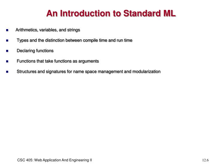 An Introduction to Standard ML