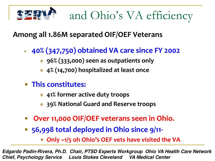 and Ohio's VA efficiency