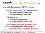and ohio s va efficiency