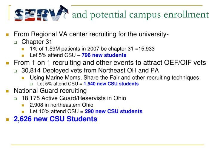 From Regional VA center recruiting for the university-
