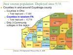 area veteran population deployed since 9 11
