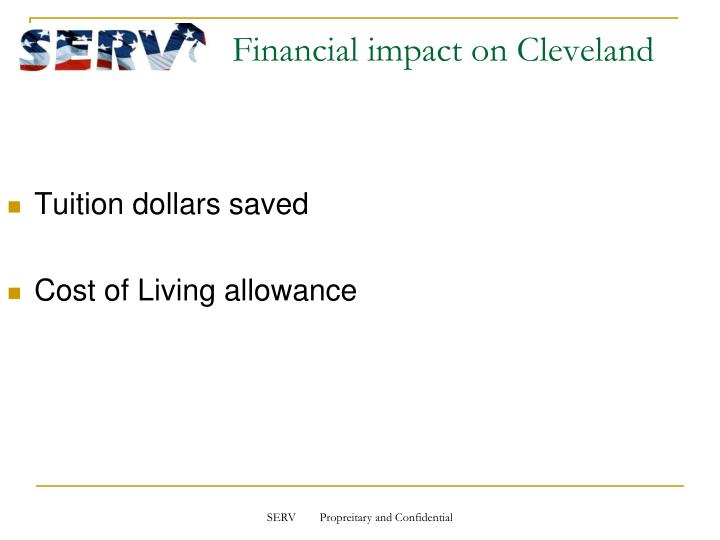 Financial impact on Cleveland