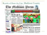 results of share the fair madison county