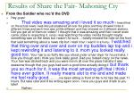 results of share the fair mahoning cty
