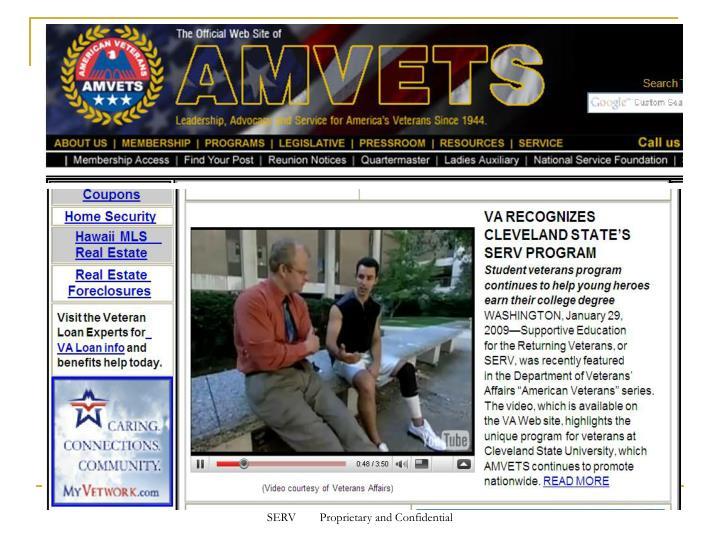 SERV        Proprietary and Confidential