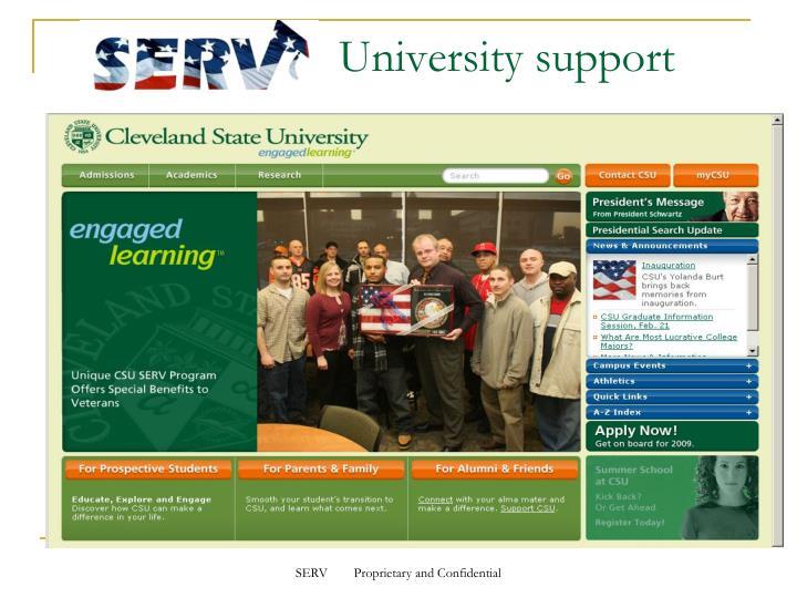 University support